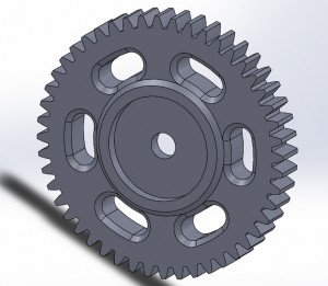 48T Spur Gear Design Model