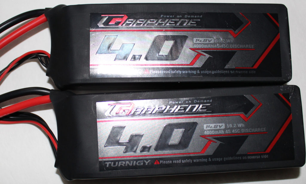 2X 4s 4000mAh with a C Rating of 45C