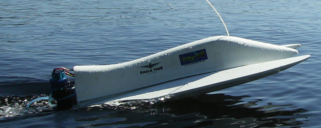 Fast Electric race boat